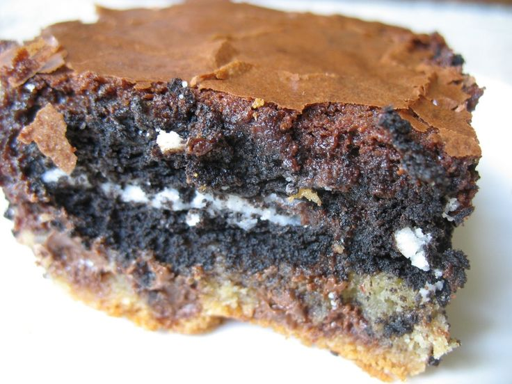 Slutty Brownies from Oh Mrs Tucker you can make from scratch or sub ...