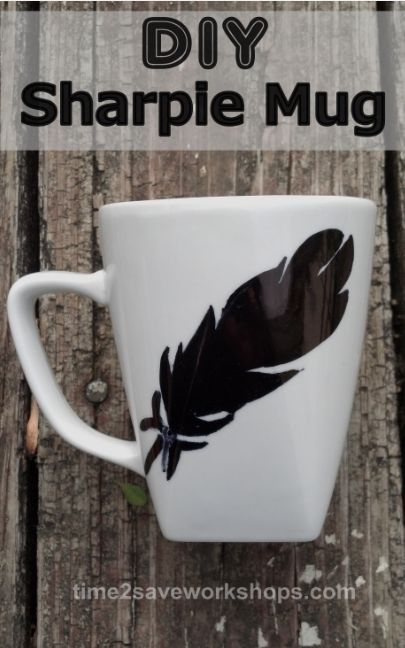 This DIY Sharpie Mug would make a Great Father's Day Gift!  Especially if you can get the kids to draw a picture of dad on it ;)