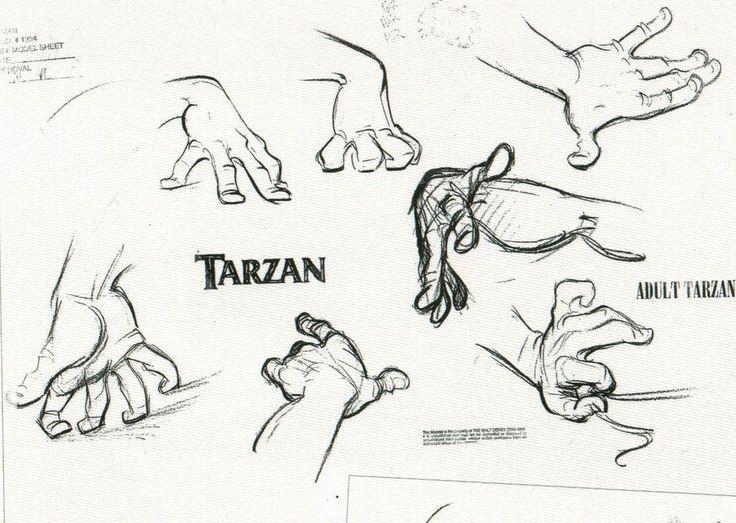 Dibujar manos animadas disney 12