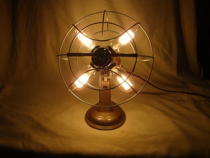 Vintage Fan Lamp Diy Pinterest