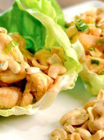 Cashew chicken in lettuce cups. | Dinner Ideas | Pinterest