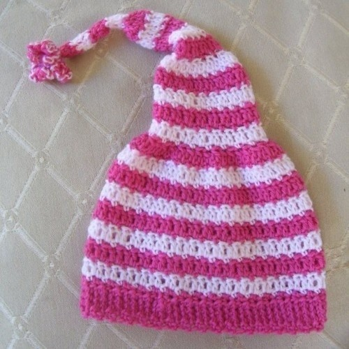 Free Crochet Stocking Hat Patterns For Adults : Stripy-Stocking-Cap Hat Crochet Patterns Pinterest