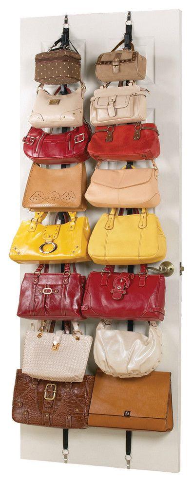 Handbag Purse Storage Rack - contemporary - clothes and shoes ...