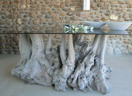 root table driftwood pinterest