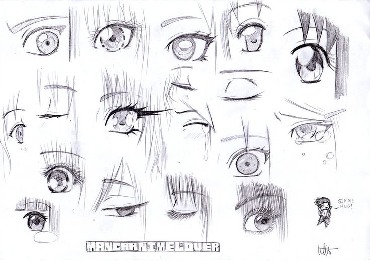 How to draw Manga eyes -references  Sketch by MangaAnimeLover on deviantART