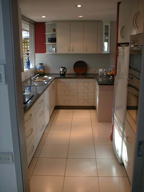 Ideas for a narrow kitchen kitchen love pinterest for Narrow kitchen ideas
