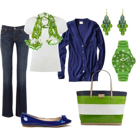 Springtime green and blue <3