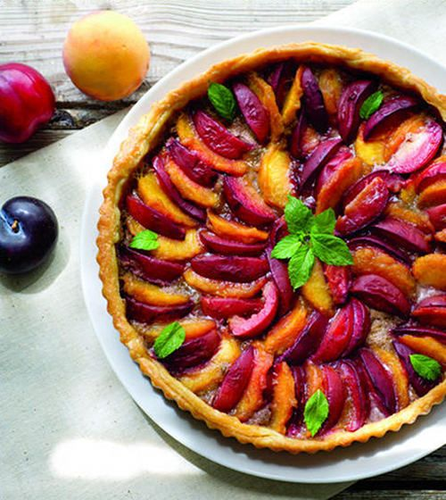 Peach and Plum Tart with Mint Walnut Pesto from Ashley English, via ...