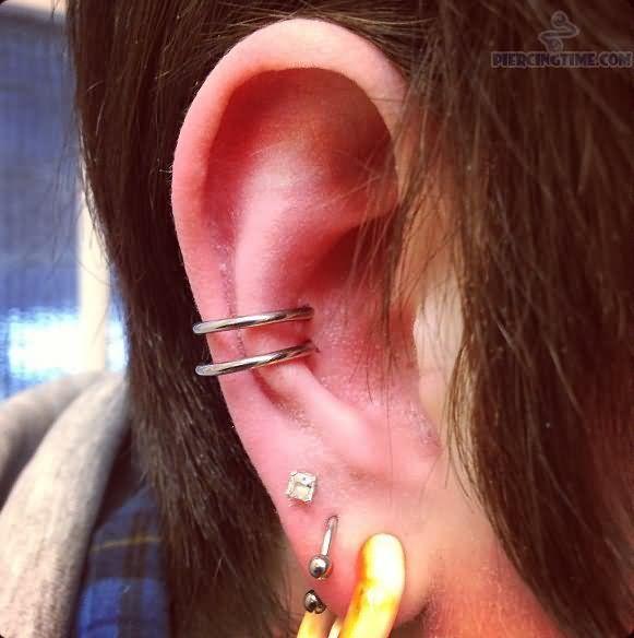 Snug Piercing | Dual Snug Ear Piercings | Tattoos ... Ear Piercings Snug