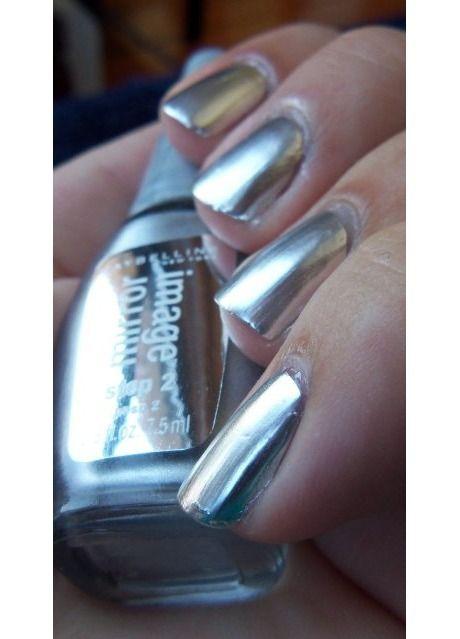 Pin mirrored chrome nail polish on pinterest for Mirror nail polish