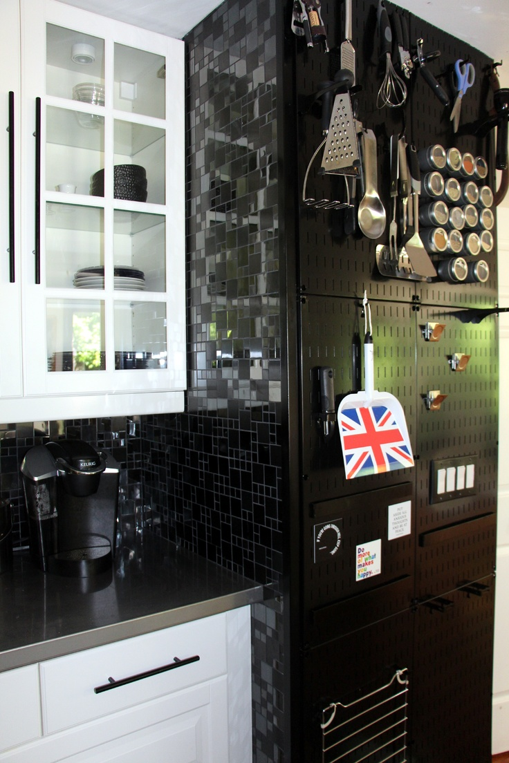 Pin by wall control pegboard on pegboard ideas pinterest for Kitchen pegboard ideas