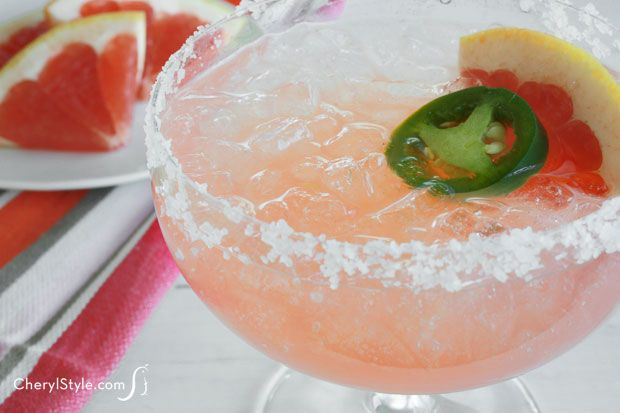 ... life! Refreshingly spicy grapefruit margarita with fresh jalapeño