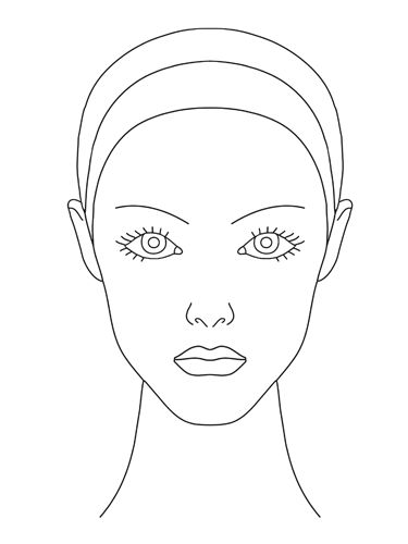 blank female face template - photo #3