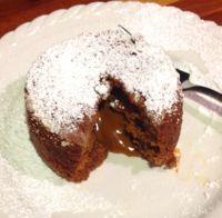 Molten Gingerbread Cake with Dulce de Leche