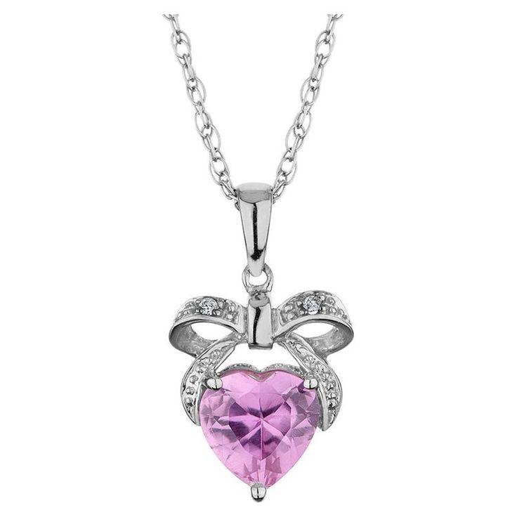 diamond heart necklace pink des coeurs 2 pinterest