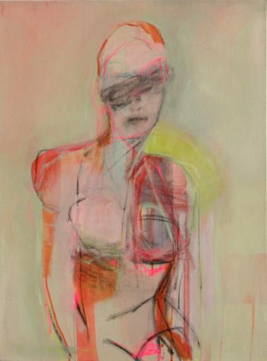 Woman, pink and Green - Kate Long Stevenson