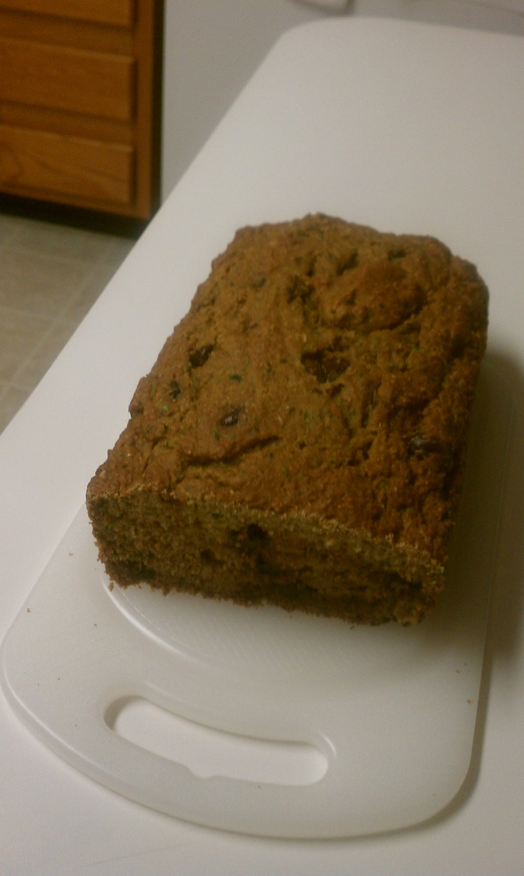 Low-Fat Chocolate Chip Zucchini Bread!! Sooooo good.