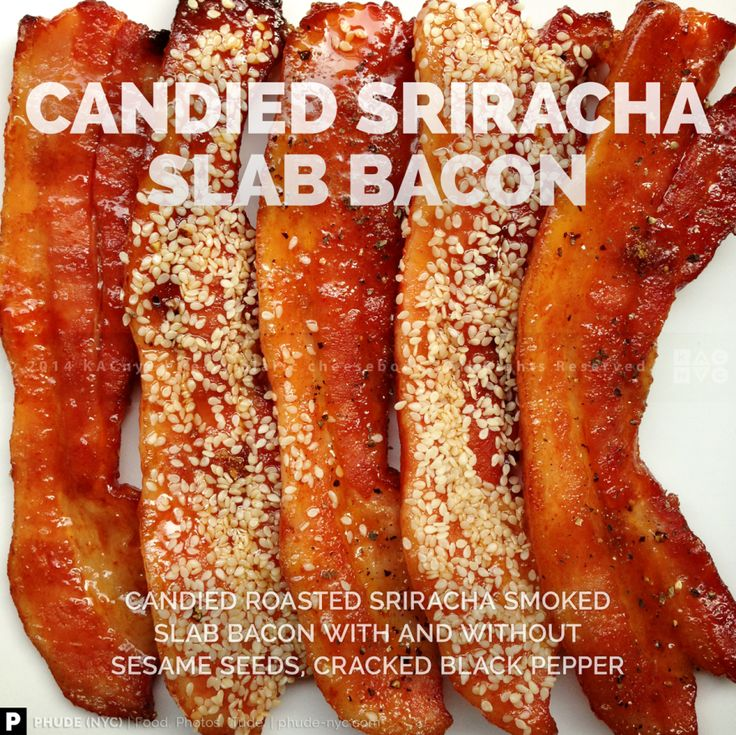Roasted Sriracha Smoked Slab Bacon with and without Sesame Seeds ...