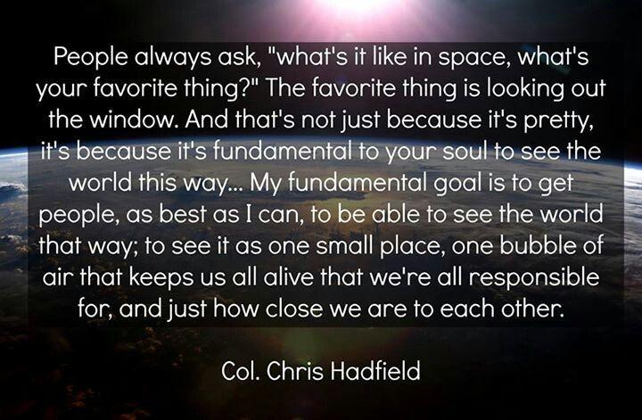chris hadfield quotes