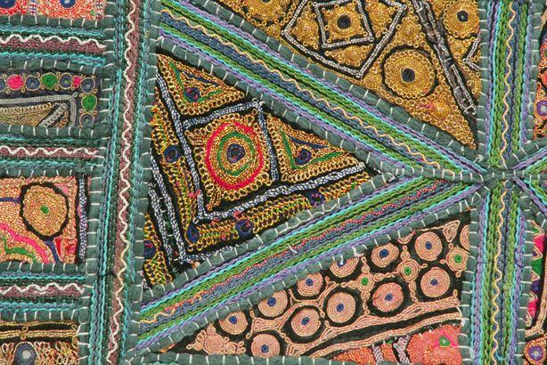Zari embroidery stitches makaroka