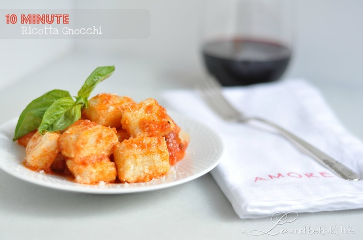Ricotta Gnocchi that only takes 10 minutes to make! This was pretty ...