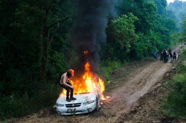 Who wants to know what Appalachia really looks like? Especially when that 'really looks like' is up for negotiation in the first place?     Perhaps that burning car is what Appalachia really looks like (especially if you're the kid on the car), or does it really look like that place that Bill Bryson wrote about, or is it that Duelling Banjos kind of territory of Deliverance, or is it something more banal and possibly tedious?