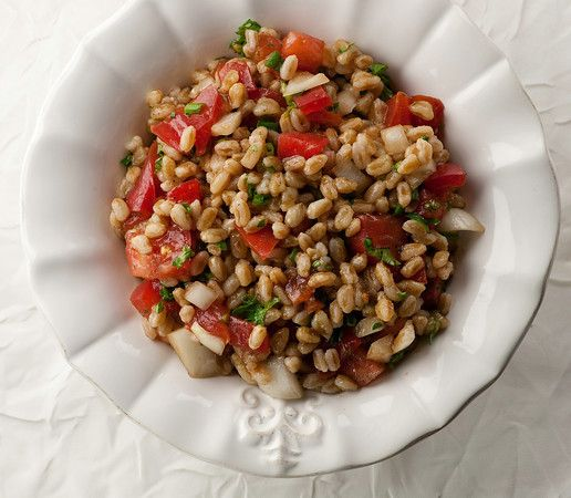 Farro Salad with Tomatoes and Herbs | Vegan/Healthy Eating | Pinterest