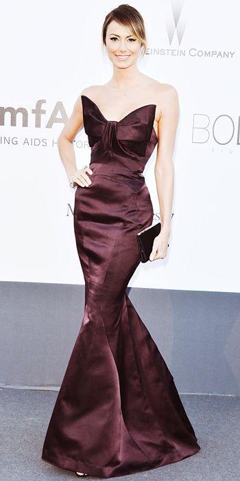 Stacy Keibler in Zac Posen in Cannes 2013