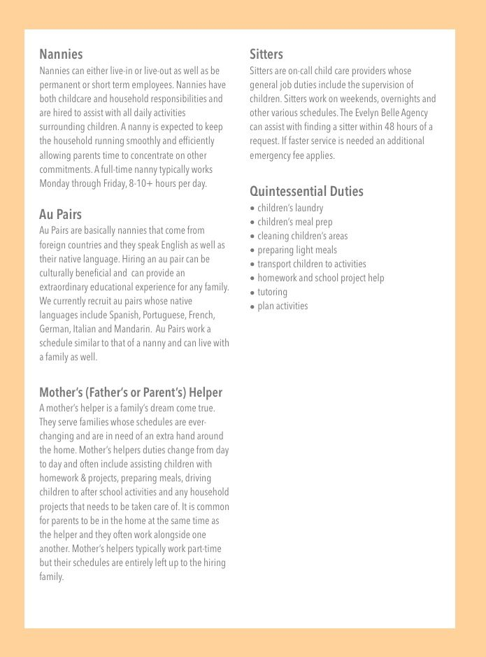 babysitting job description download babysitter resume template