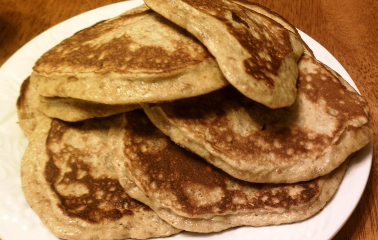 Banana Flax Seed Pancakes with Nut Butter - worth a try