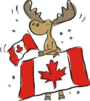 canadian flag bunting