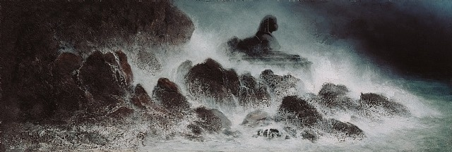 """Karl Wilhelm Diefenbach, """"Sphinx in stürmischer See"""", 1900-1906."""