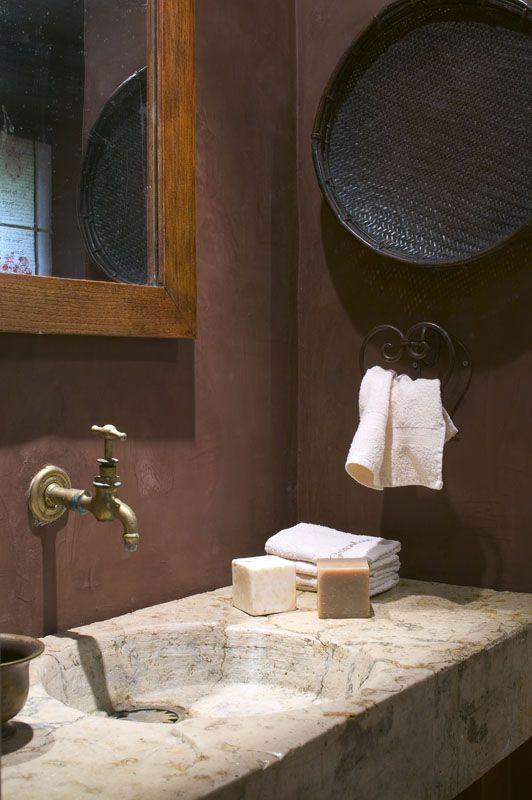 Kleine Extra Badkamer ~ Badkamer met kalkverf van Ressource  Ressource kalk verf  Pinterest