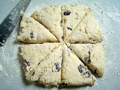Warm Cherry-Walnut Scones with Lemon Curd Made these today, they're ...