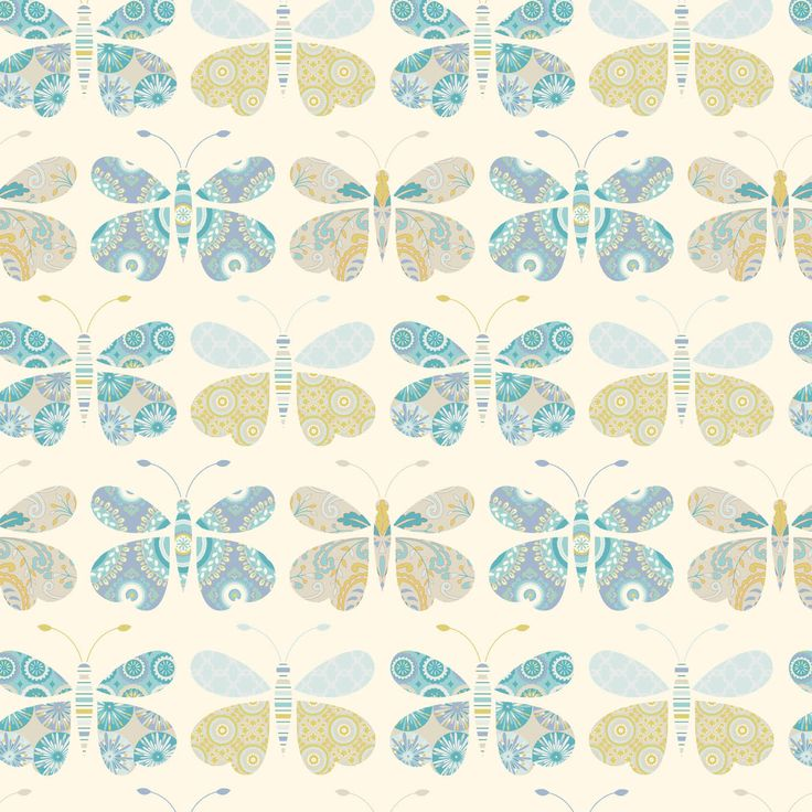 Kumari garden collection sacha in blue by dena for free for Kumari garden fabric by dena designs