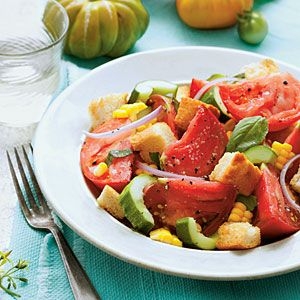 Tomato Panzanella - This is so good. A must if you grow your own ...