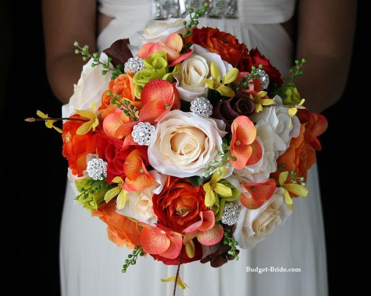 Fall Bling Wedding Flower Package Fall Wedding Flowers Pinterest