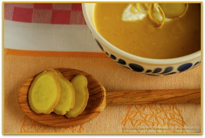 ... Experience Your Senses: Creamy Ginger Carrot Soup with Lemon Cream
