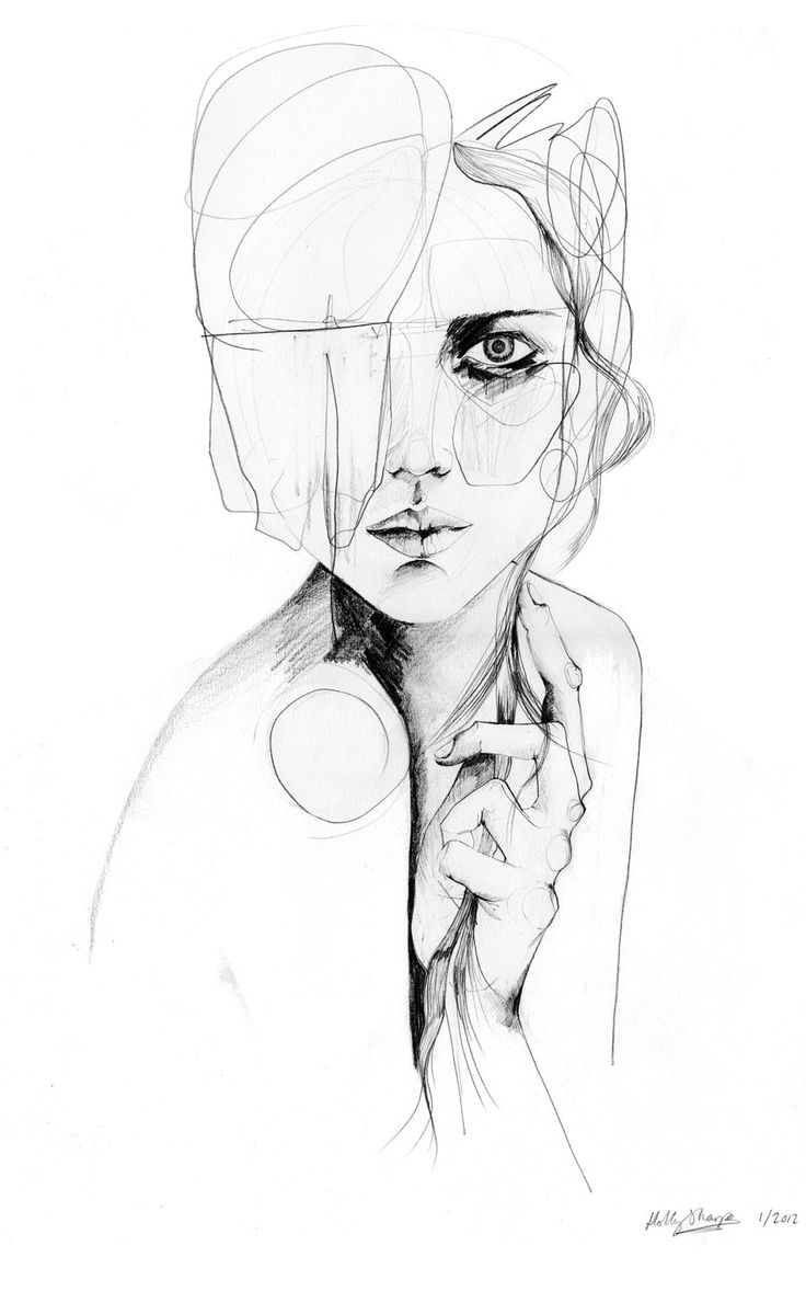 Line Drawing Woman : Pinterest