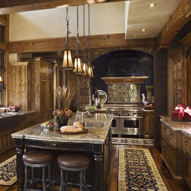 Beautiful Rustic Kitchen My Future Home S Pinterest