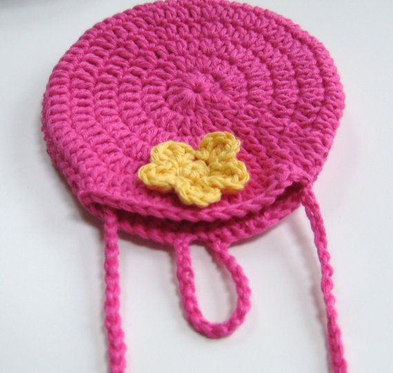 Crochet Round Circle purse bag INSTANT DOWNLOAD PDF Pattern, long str ...