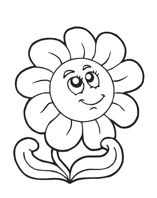 Cute spring flower coloring page car interior design for Cute spring coloring pages