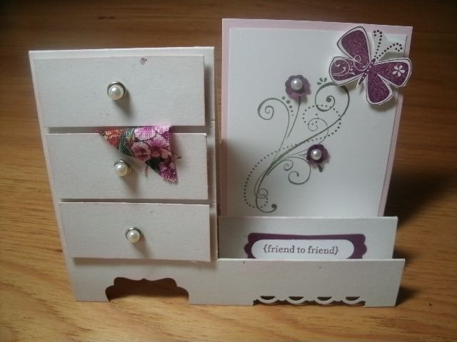 Razzleberry Side Step Dresser card by Londonblue - Cards and Paper Crafts at Splitcoaststampers