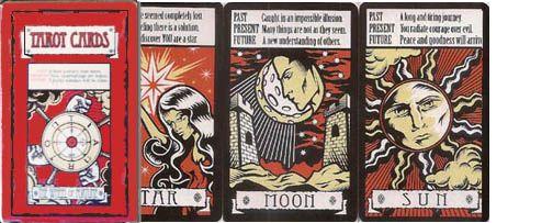 fortune teller card game dragons den
