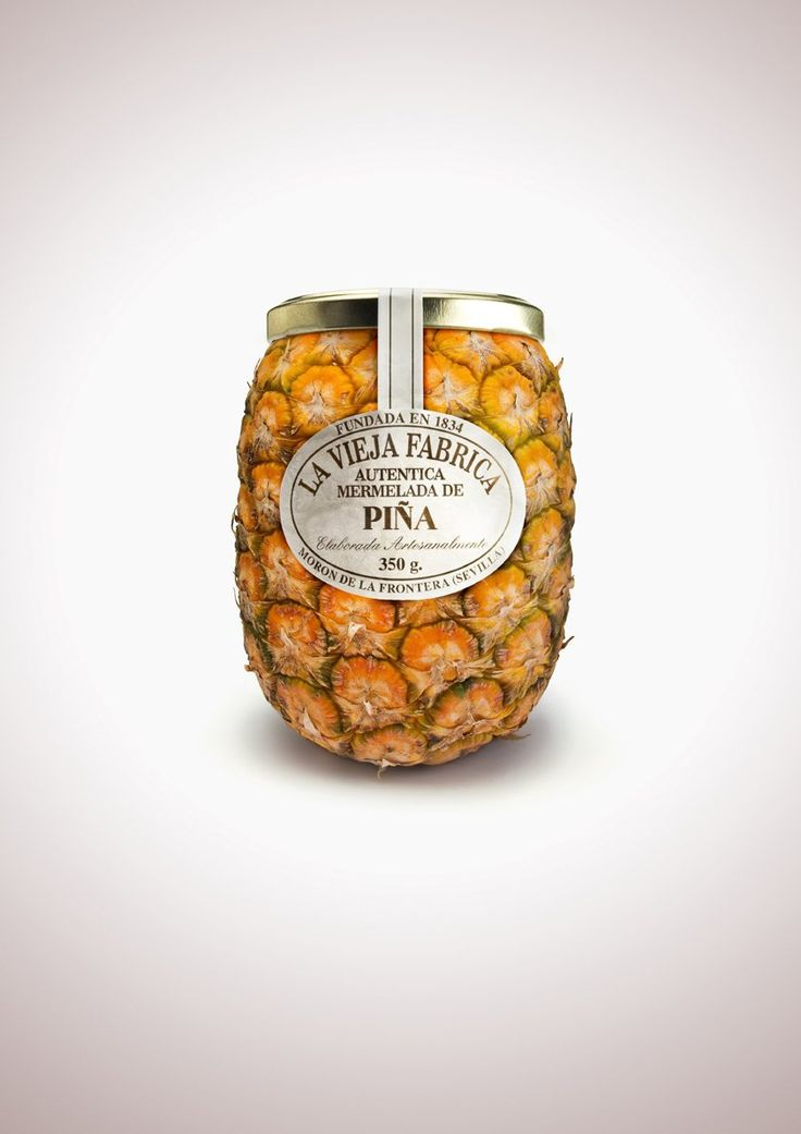Fruit-Shaped Jam Bottles-Pineapples