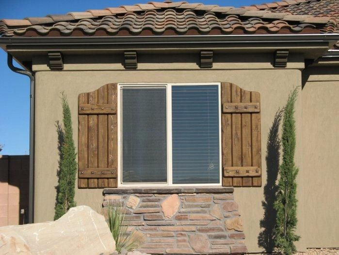 Rustic exterior shutters rustic shutters custom for Window shutter designs