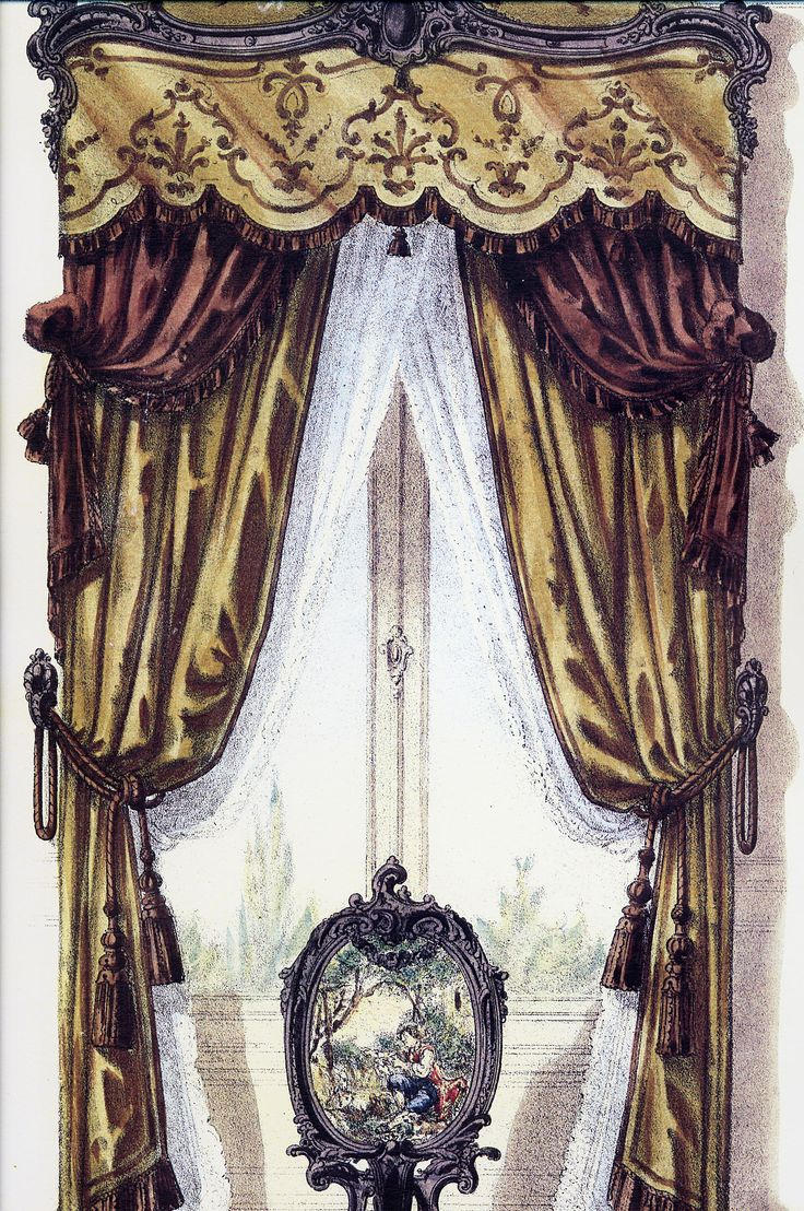 French curtains project 963 artist salon pinterest for 18th century window treatments