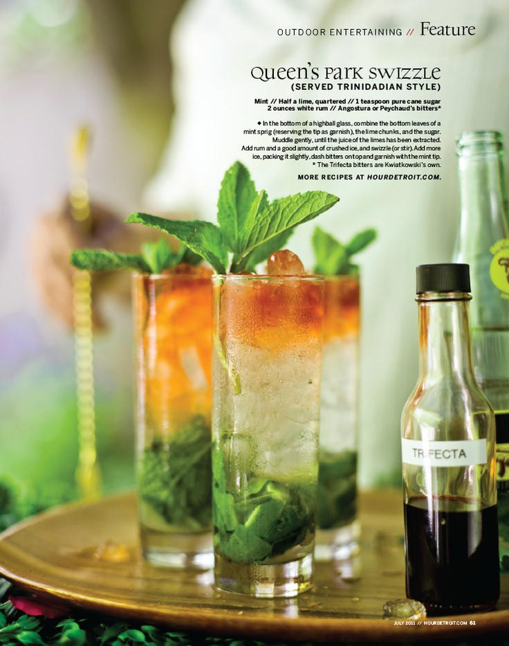 Queen's Park Swizzle Basically the most beautiful Mojito you've ever ...