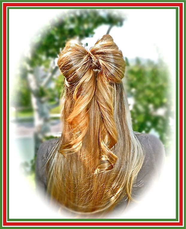 Hairstyles Gifts : Christmas Hairstyle: Gift wrapped Bow Closet Pinterest