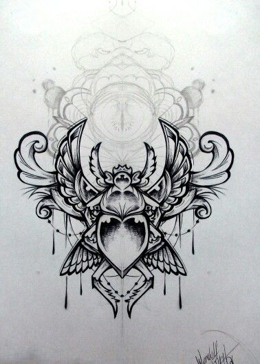 Egyptian scarab tattoo designs the for Egyptian tattoo flash